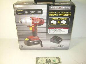 Chicago Electric Power Tools 18 Volt 1 2 Cordless Impact Wrench Free Ship