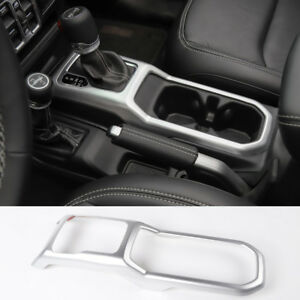 Fit For 2018 Jeep Wrangler Jl Matte Car Gears Panel Shift Cover Trim Frame
