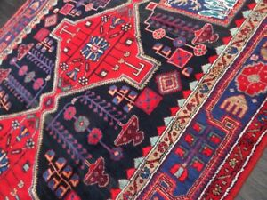 C 1930 Antique Vintage Persian Nahavand Exquisite Hand Made Rug 5x8