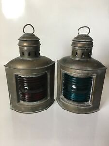 Pair Of Antique Perko Ship Lanterns