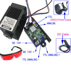 Focusable High Power 450nm 2 5w Blue Laser Module Carving burning Power Supply