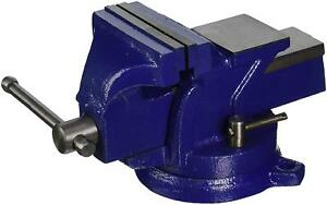 Heavy Duty 4 Bench Blue Vise 360 Swivel Base With Lock Big Size Anvil Top