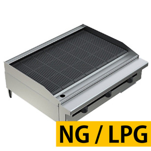 Pantin Commercial 36 Countertop Gas Radiant Grill Charbroiler Charcoal Nsf