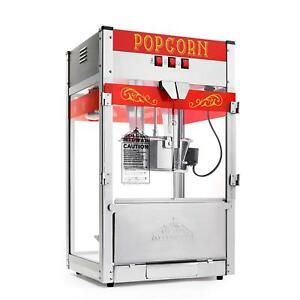 Commercial Popcorn Machine Maker Popper W Large 12 ounce Kettle Stainless Steel