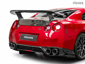 Vicrez Rt Carbon Fiber Rear Wing Spoiler Vz101035 For Nissan Gtr R35 2009 2017