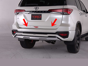Toyota New Fortuner 2015 17 Trd Series Rear Trunk Garnish White Pearl