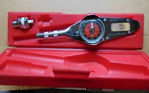 Snap on Tools Usa Torqmeter Wrench 3 8 Drive 300lb With Ratchet Adapter F67b