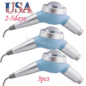 3pcs Usa Dental Air Polisher Hygiene Jet Tooth Polishing Handpiece 2 Hole 135 c