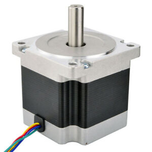1 8 Deg Bipolar Nema 34 Stepper Motor 4 5nm 637oz in 5 5a 2 2v 4 wire Cnc Lathe