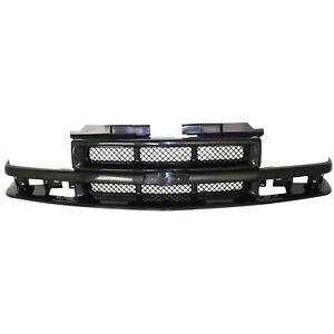 Grille For 98 2003 Chevrolet S10 2001 2005 Blazer Textured Black Plastic