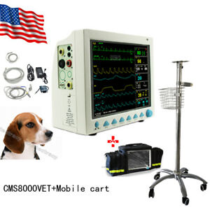 Usa Vet Veterinary Patient Monitor 6 Parameter ecg nibp pr spo2 temp resp ce fda