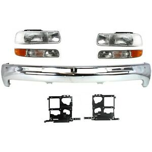 Bumper Kit For 99 2002 Chevrolet Silverado 1500 Silverado 2500 Front 7pc