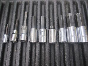 Proto Professional Wright Armstrong 1 2 Drive Metric Hex Socket Driver Set