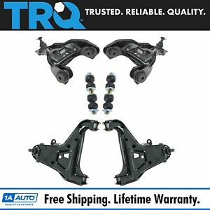 Trq Upper Lower Control Arm Ball Joint Sway Bar Link Suspension Kit 6pc Set