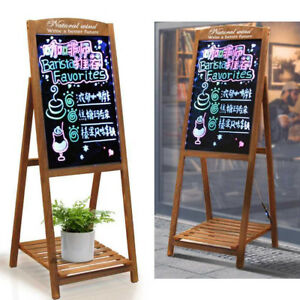 45 x17 Large Led Menu Message Writing Sign Board Flashing Neon Cafe Shop Party