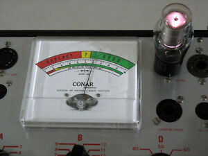 Conar 224 Tube Tester Manual Charts Repaired Calibrated Works Very Nice