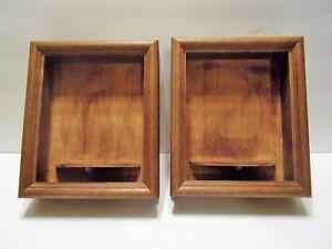 2 Unique Vintage Square Framed Display Shelf Lot