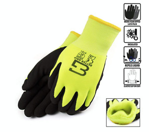 Better Grip Bgwans3 4 Safety Winter Insulated Double Lining Rubber Coated Glove