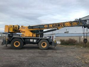 Grove Rough Terrain Crane rt600e 50 Ton