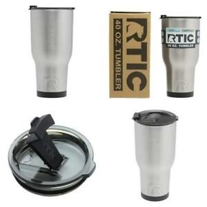 RTIC Hot Cold Double Wall Vacuum Insulated Tumbler 40 oz Stainless Steel Ice Cup