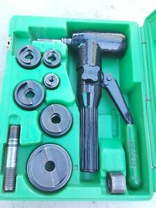 Greenlee 7906sb Quick Draw 90 Hydraulic Punch Driver Set 1 2 To 2