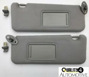 2005 10 Scion Tc Gray Oem Sun Visor Driver Side Pair Left right W Clips