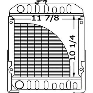 Sba310020020 Radiator Fits Ford Compact Tractor 1110