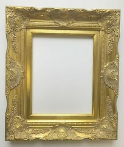 Picture Frame 11x14 Vintage Antique Style Baroque Gold Ornate W Glass 6996g