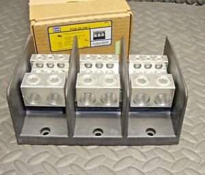 New Ilsco Pdb 26 350 3 Power Distribution Block 620 Amp 600 Volt 3 Pole