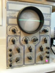 Working Vintage Hickok Model 665 Cathode Tube Oscilloscope