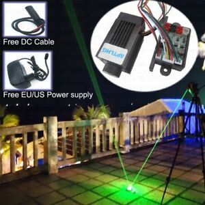 Focusable 200mw 532nm Green Laser Module Diode Long Duty 12v Ttl Power Supply
