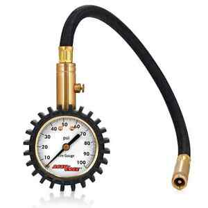 Accu Gage H100x Professional Tire Pressure Gauge With Protective Rubber Guard 1