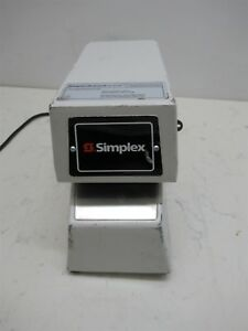 Simplex Grinnell 1605 9001 Time Recorder Punch Clock Time Stamp