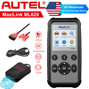 Autel Ml629 Diagnostic Tool Obd2 Can Code Reader Abs Srs Transmission Than Al629