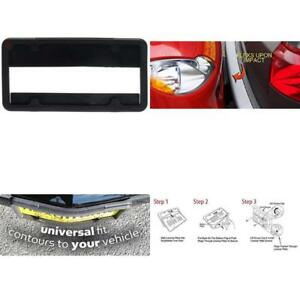 Car Protector Front Bumper Guard License Plate Holder Frame Universal Fit Rubber