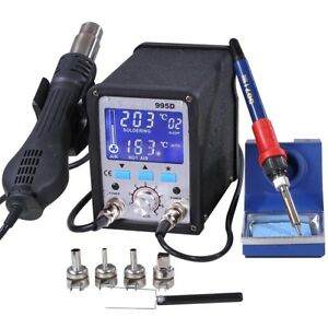 2in1 995d Lead free Soldering Station Iron Smd Rework Digital Welding Tool Esd