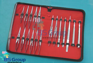 20 Pieces Set Of Castroviejo Micro Surgery Needle Holder Curved