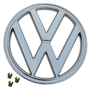 Front Emblem Chrome With Clips 72 79 Vw Type 2 Bus 7 182mm 241 853 601e