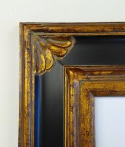 Picture Frame 20x24 Vintage Antique Style Ornate Baroque Bronze Gold Black 278