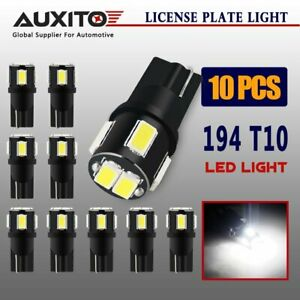 Auxito 10x T10 5630 6 Smd Led Car Wedge Light Lamp Bulb White 168 194 192 158