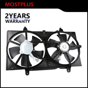 Front Condenser Radiator Cooling Fan W Motor For Nissan Altima Maxima 2 5l 3 5l