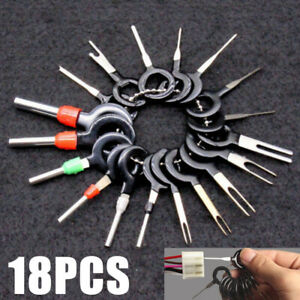 18 Pcs Wire Terminal Removal Tool Car Electrical Wiring Crimp Connector Pin Kits
