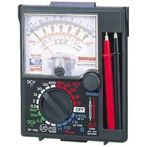 Official Sanwa Sp18d Analog Multi Tester Anti Shock Meter F s From Japan
