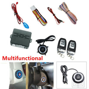 Car Alarm System Push Button Remote Engine Start Remote Control Key Safe Parts