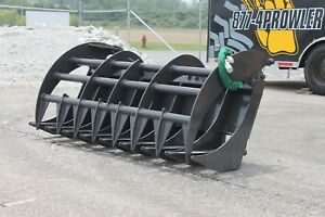 72 Heavy Duty Prowler Skid Steer Grapple Rake Made In Usa Fits Bobcat