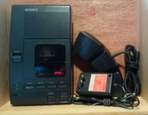 Sony Microcassette Transcriber W foot Pedal Ac Adapter Tested