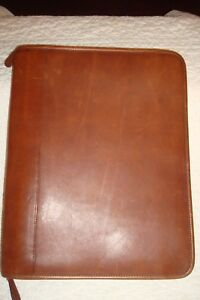 Vintage Coach Leather Zip Porfolio Planner Organizer Burgundy Brown Corovan
