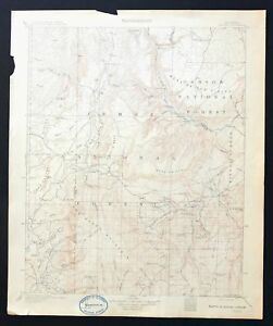 Gallina New Mexico Rare Antique 1909 Usgs Topographic Map Cuba 30 Minute Topo