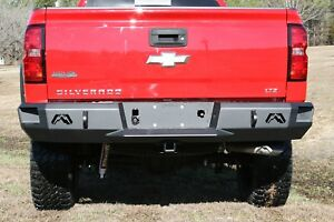 Fab Fours Cs14 w3150 1 Heavy Duty Rear Bumper Fits 2014 2017 Chevrolet gmc
