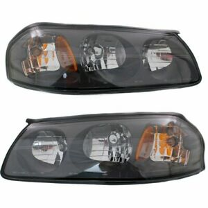 Halogen Headlight Set For 2000 2004 Chevrolet Impala Left Right W Bulbs Pair